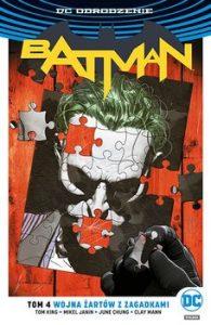 Batman 195x300 - Batman Tom 4 Wojna Żartów z ZagadkamiKing Tom Janin Mikel Mann Clay